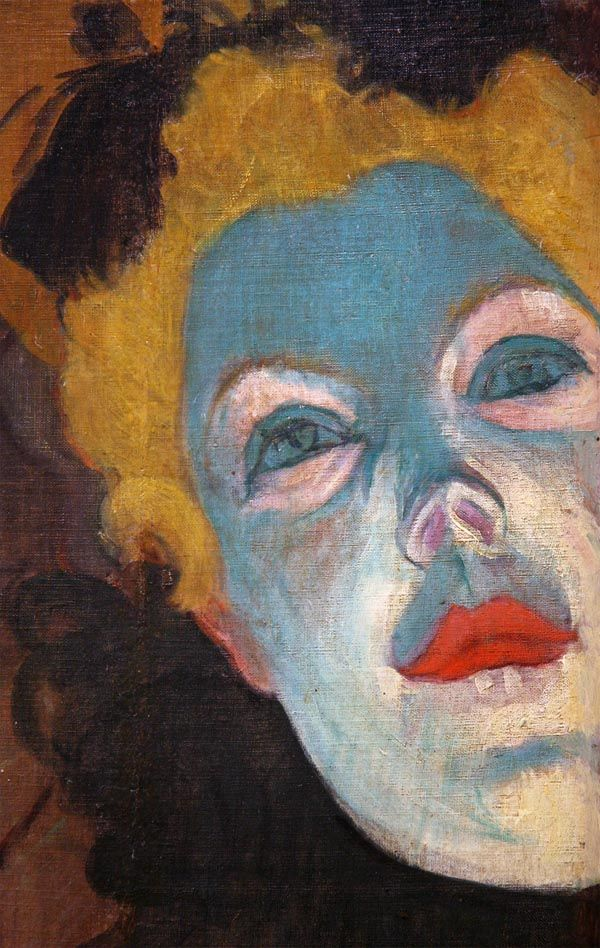 """At The Moulin Rouge"" I call her Lady Green Face, see it at Chicago Art…"