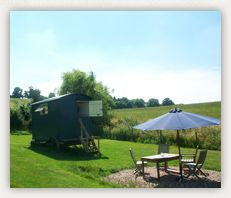 Glamping near Stratford-upon-Avon Warwickshire at Hill Farm