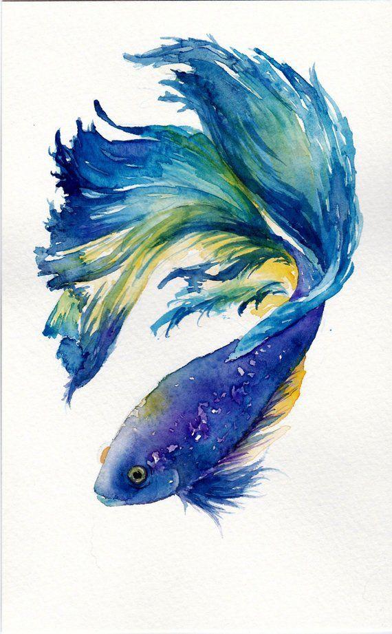 Mochte Jemand Einen Kampf Ing Fisch Druck Fisch Kunst