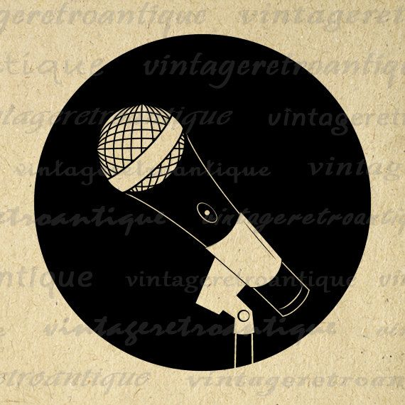 Large printable microphone clip art digital illustration for transfers, printing, tote bags, t-shirts, and much more. Great for Etsy products. Vector available. This graphic features a microphone in circle based illustration. Large and high quality, size 8½ x 11 inches. Need this graphic in a larger size? Upscale this graphic to any size without quality loss, contact me for more information. Transparent background version included with all images. Buy more and SAVE sale See below ...