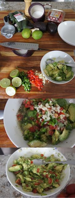 Delicious Guacamole. Quick, done in 5 minutes. Great on it's own or for dipping veggies or steak in if you're eating paleo, chips otherwise.