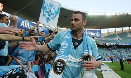 The Cove faithful thank Ranko Despotovic for his off-the-bench-last-gasp-94th-minute-winner-on-debut that gave Sydney FC it's 2-1 win over Wellington Phoenix in Rd7.