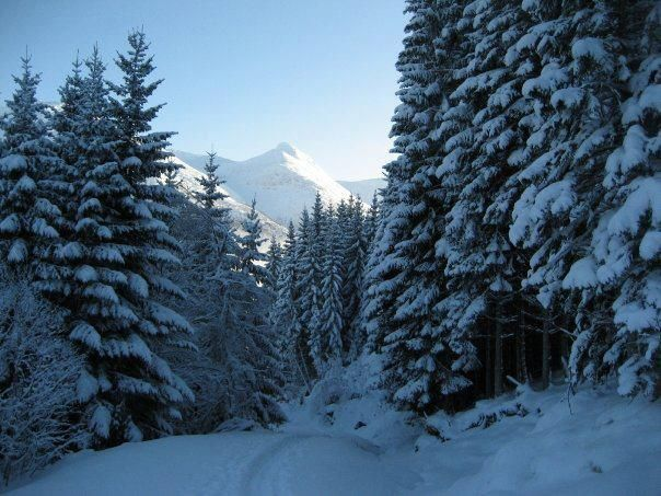 Winter in Olden, on the way to Skarstein deter