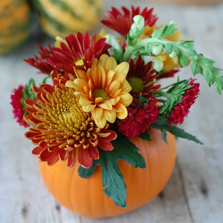 DIY Thanksgiving Centerpiece | An easy and inexpensive floral arrangement that is the perfect hostess gift!