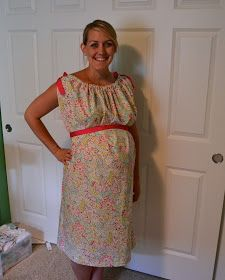 DIY Hospital Labor & Delivery Gown - I can DIMyself w/ 2 yards of fabric, some ribbon and velcro!! YES! SO much cheaper than buying!