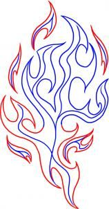 how to draw tribal flames step 3