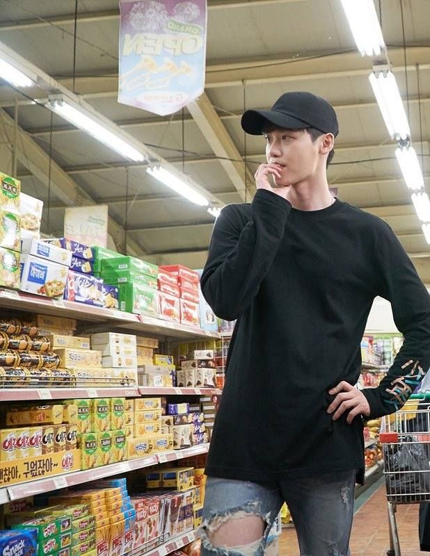 Lee Jong Suk as the third version on Kang Chul in W: Two Worlds, working on his homework