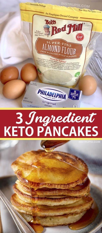 3 Zutaten Keto-Pfannkuchen (Easy Low Carb Breakfast Idea!)