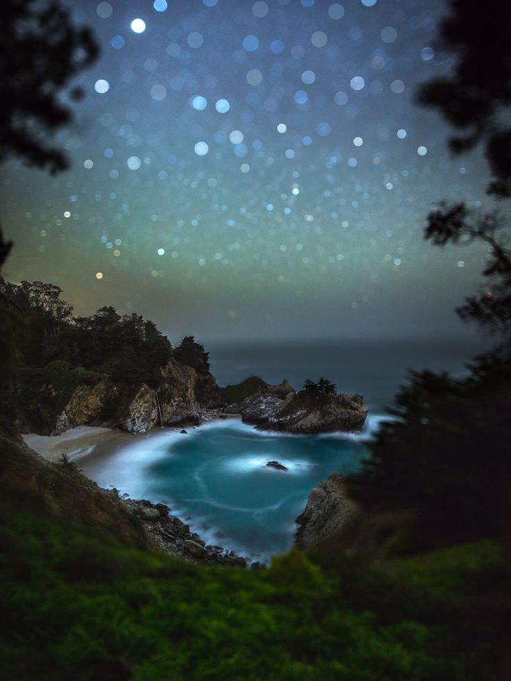 """Photographer says """"I had fun creating this tilt-shift photo of McWay Falls in Big Sur when I made a spontaneous trip up there a couple of weeks ago. Looking forward to going back soon to shoot the Milky Way there!"""""""