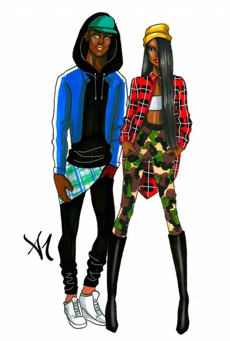 Couple Stereotypes- 'The Gangstas' #FashionIllustrations @armandmehidri| Be Inspirational❥|Mz. Manerz: Being well dressed is a beautiful form of confidence, happiness & politeness