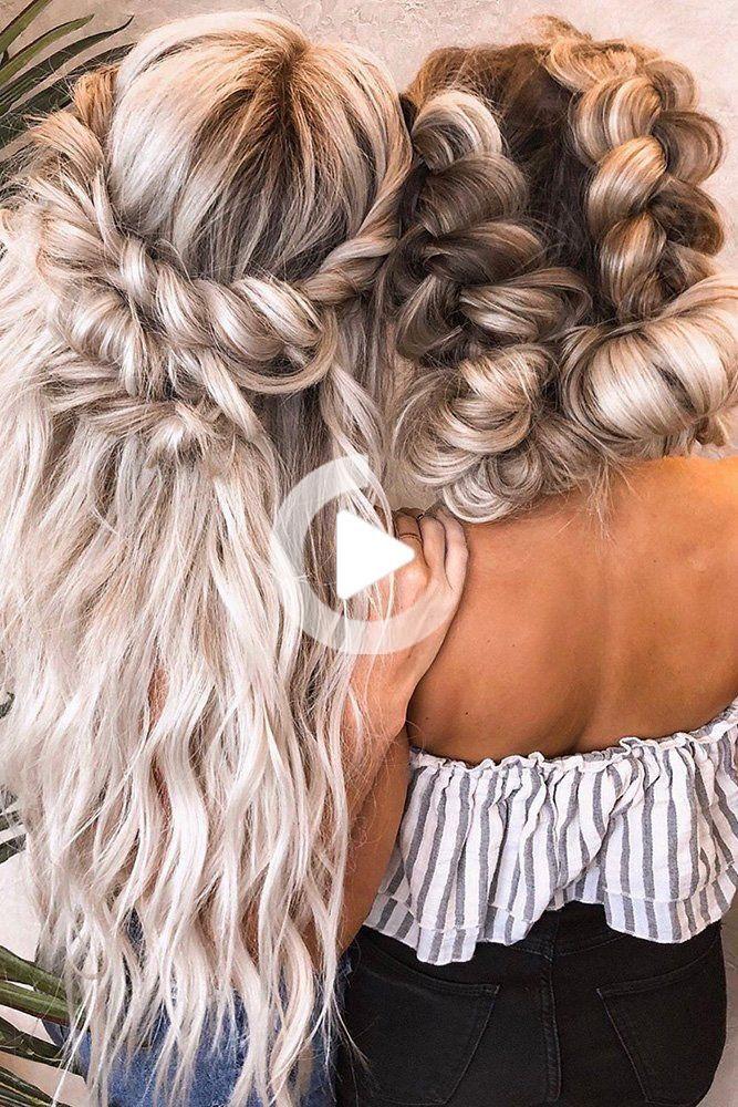 Wunderschone Hochzeit Frisur Brautjungfer Frisuren Brautjungfer Frisur Fr In 2020 With Images Long Hair Styles Hair Styles Amazing Wedding Rings