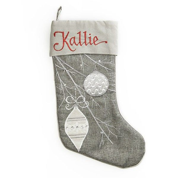 Personalised Stocking   Silver Bauble Stocking