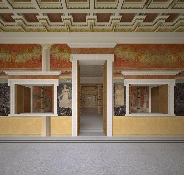 Villa reconstruction 2, Pompeii, Italy by James Stanton-Abbott, via Behance