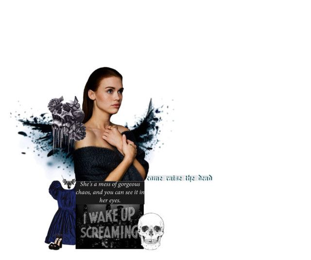 """""""⌾ come raise the dead ⌾"""" by clarylightwood ❤ liked on Polyvore featuring art, TeenWolf, LydiaMartin, HollandRoden and botc2"""