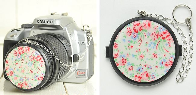 DIY Camera Lens Cap Decoration original - I am SO doing this! You know, in my spare time...