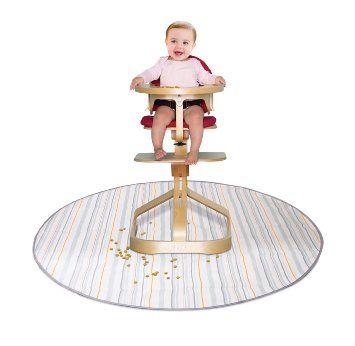 Amazon.com : Prince Lionheart Multi-Purpose Catchall, Beige Stripe : Childrens Highchair Floor Mats : Baby