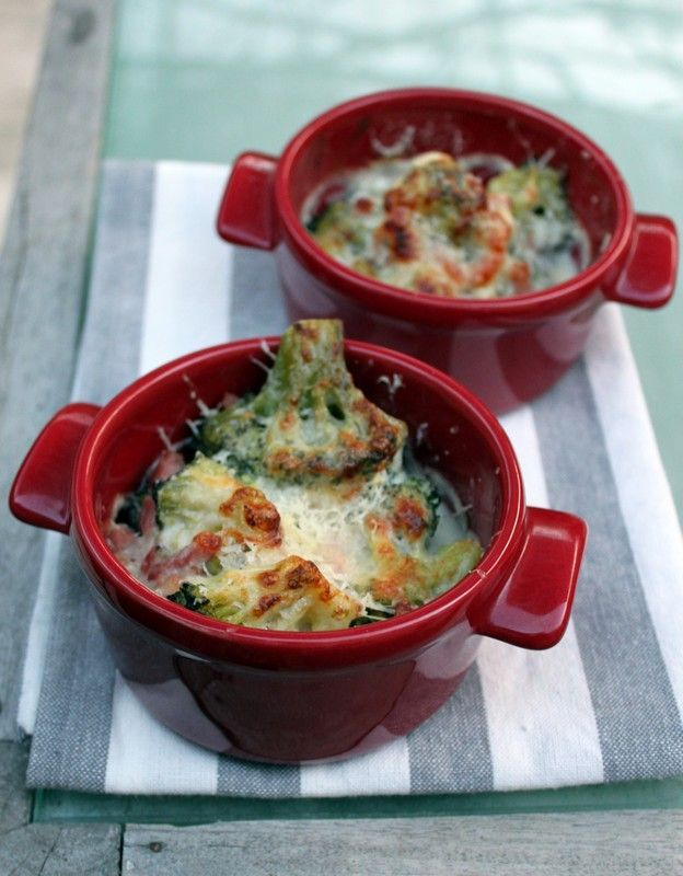 Gratin de brocolis au parmesan