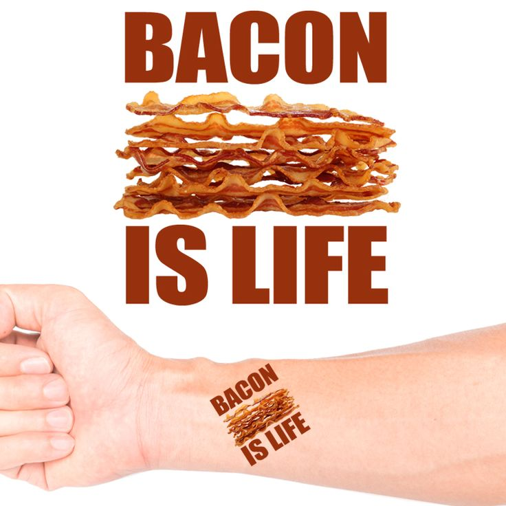 Bacon Is Life Temporary Tattoo #1161 (20 pack)
