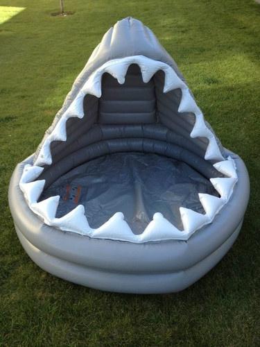 Pottery Barn Kids Shark Swimming Pool Brand New Inflatable