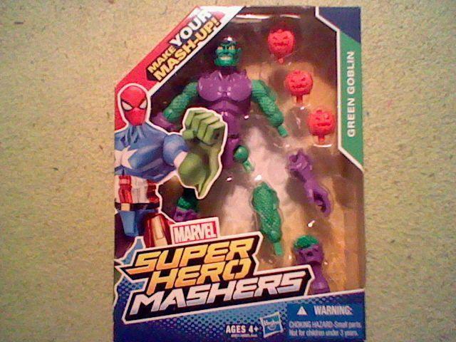 New Marvel Super Hero Mashers Green Goblin! In Box, Norman Osborn Spider-Man Foe #Hasbro