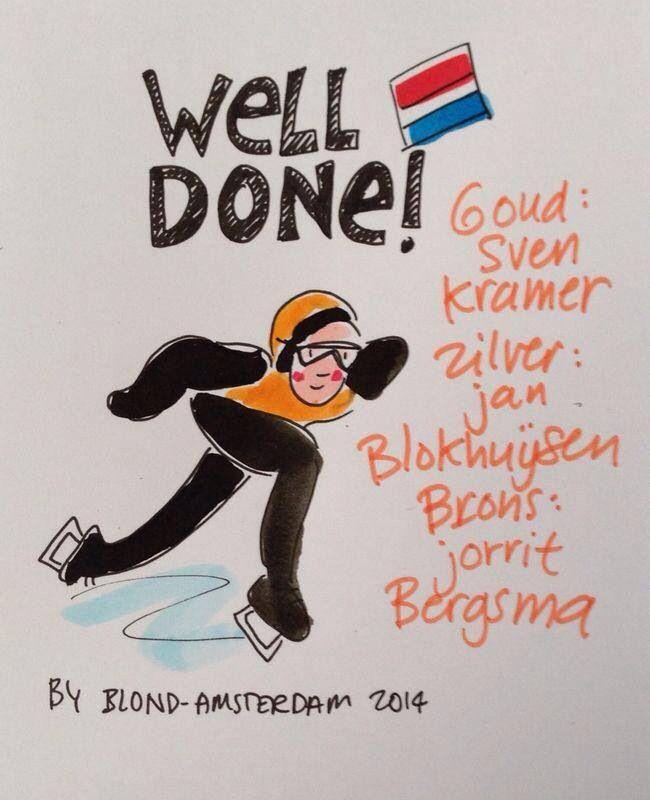 OG2014 speedskating 5K! Go Holland!