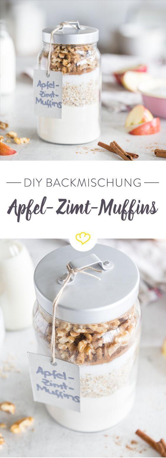 Apfel-Zimt-Muffins zum Verschenken. Für süßen Genuss frisch aus dem Ofen.