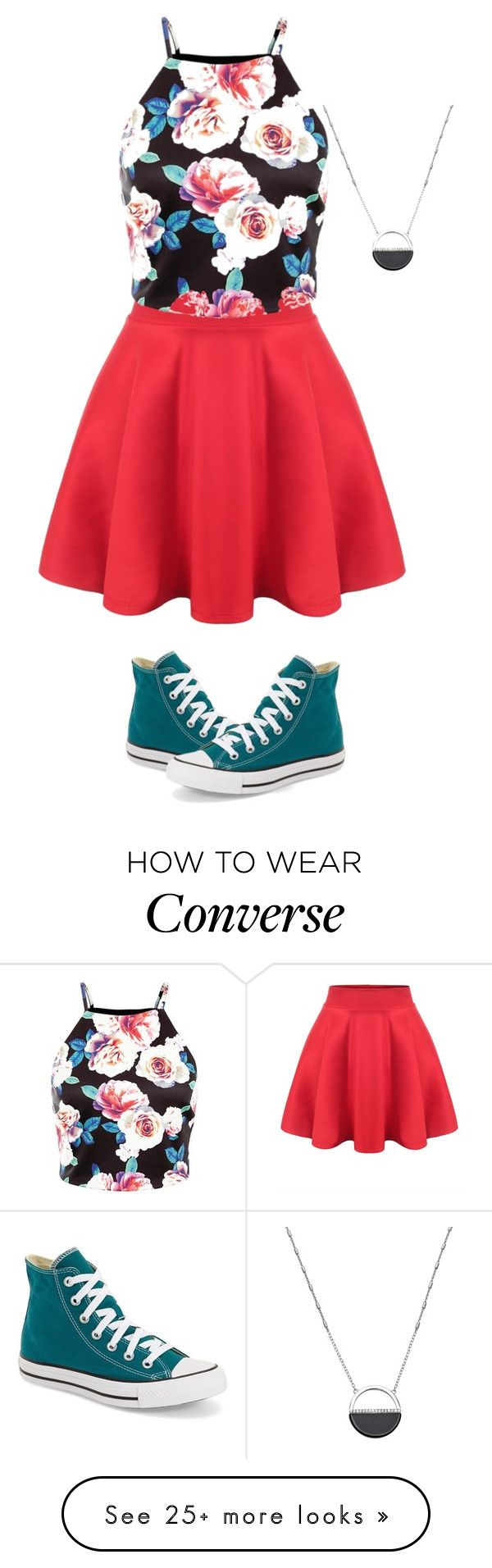 """Skirt + Converse"" by spikerlydsjc on Polyvore featuring White House Black Market, Converse, women's clothing, women, female, woman, misses and juniors"