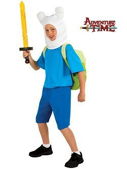 Child Deluxe Adventure Time Finn Costume | Cheap TV and Movie Halloween Costume for Boys