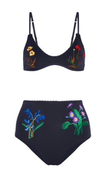 Stella McCartney floral high waisted bikini