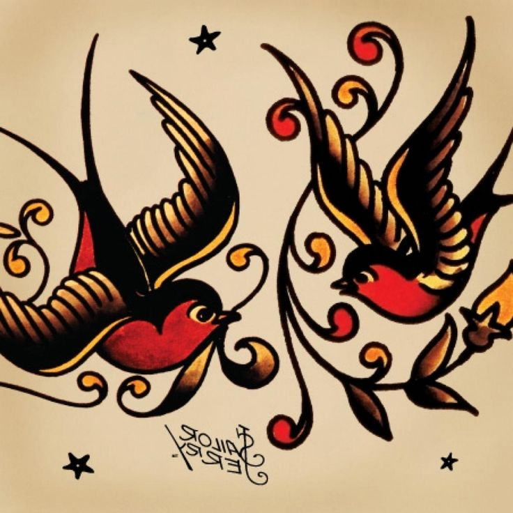 Traditional Swallow Tattoo Designs Tattoo Meanings Swallows Anchors Sharks Sailor Jerry