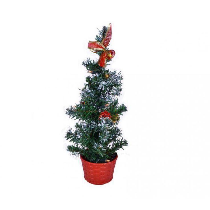 Vánoční stromek s osvětlením 40 cm, interiérový, na baterie - www.guge.cz