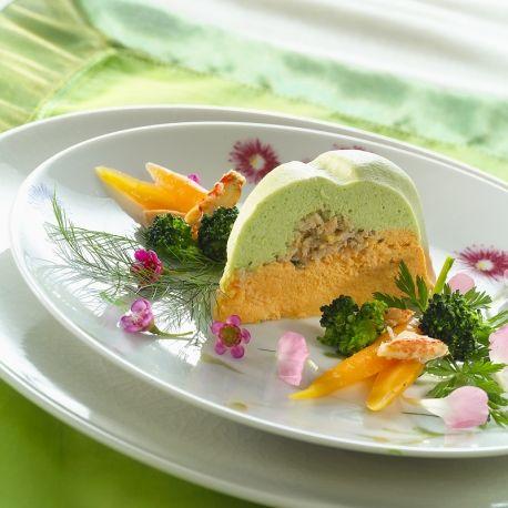 Bavarois de légumes au crabe