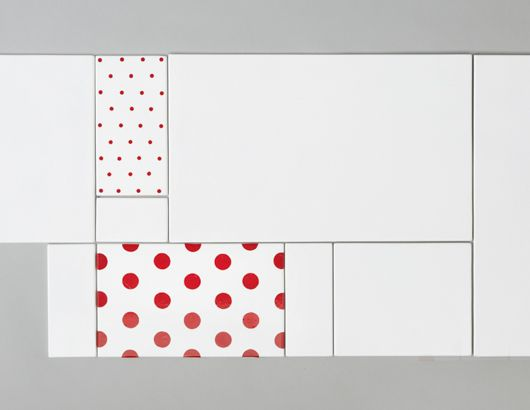 Tilkku is a series of ceramic tiles, which can be placed in various different ways. The patterns of the tiles derive from the textile world. Niina Aalto