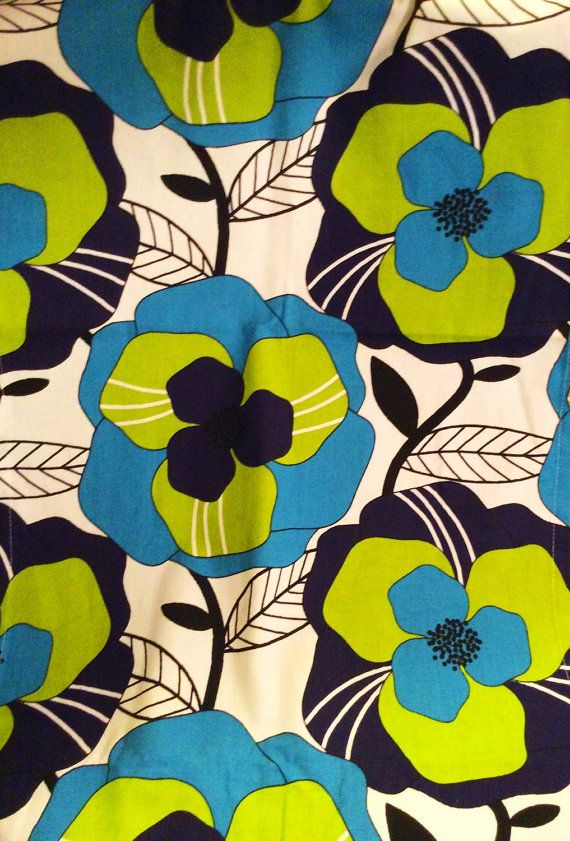 So lovely Swedish designer retro inspired fabric. High quality Almedahls