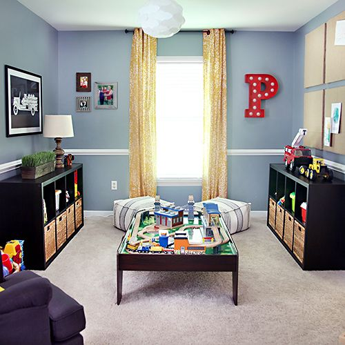 Playroom Makeover // 7thhouseontheleft.com :: would be a great starting off point for the boys' room