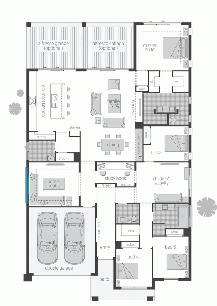 The miami new home design mcdonald jones homes floor for Miami mansion floor plans