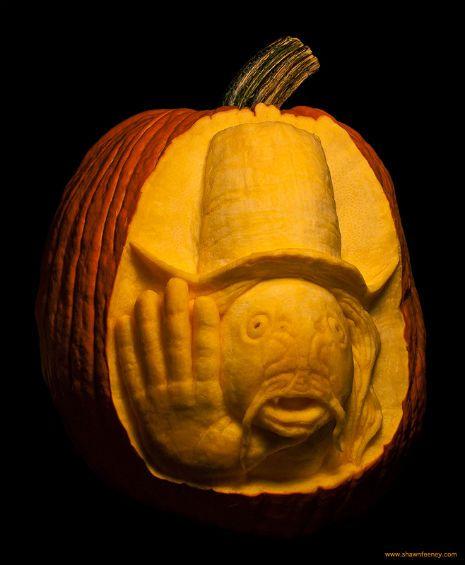 Captain Beefheart 'Trout Mask Replica' Halloween pumpkin
