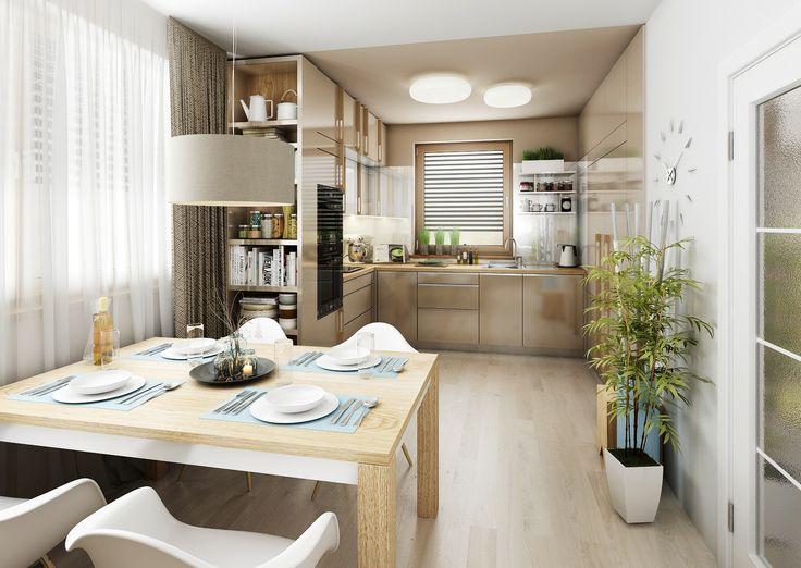 Fotorealistická vizualizace kuchyně