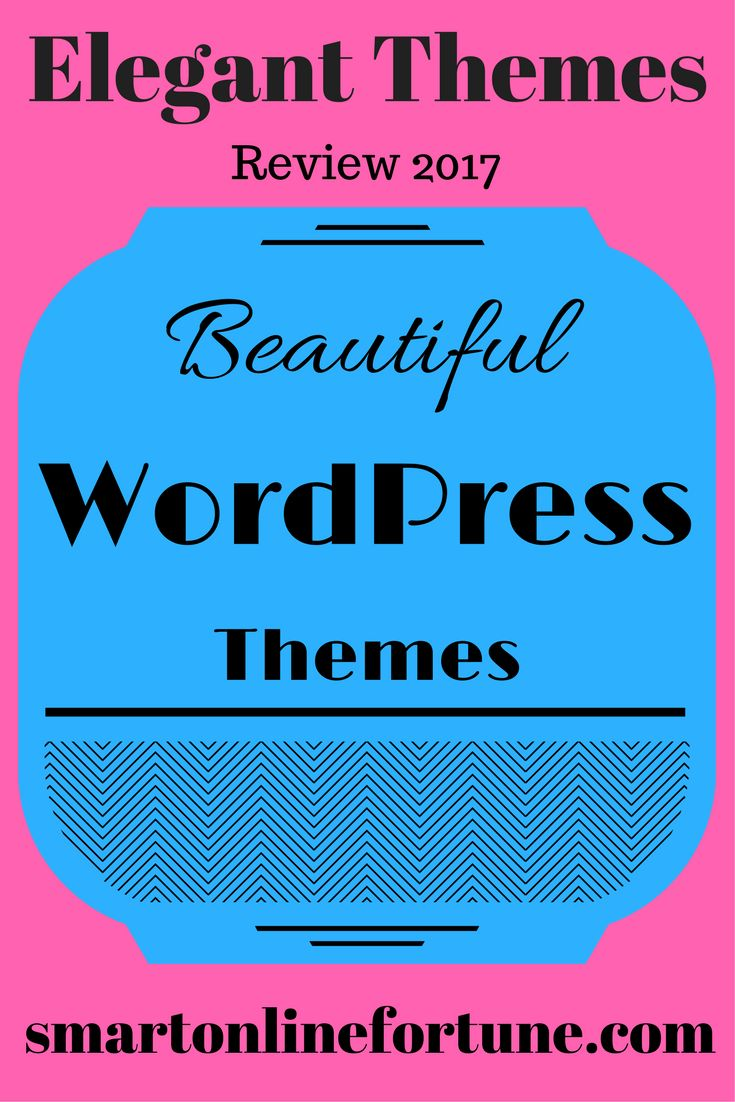 Elegant Themes Review 2017. A WordPress theme marketplace that comes with 7 great WordPress plugins and 88 premium WordPress themes. The plugins that come with the Elegant Themes membership can help you easily design your website, increase your social followings, help you build an email list, and so much more. @smonlinefortune