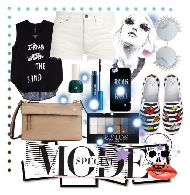 """RockMode"" by tropical-vegas-finest ❤ liked on Polyvore featuring Tumi, BP., Melissa McCarthy Seven7, Maybelline, Yves Saint Laurent, MAC Cosmetics, Dunn, GE, Linda Farrow and Ardency Inn"