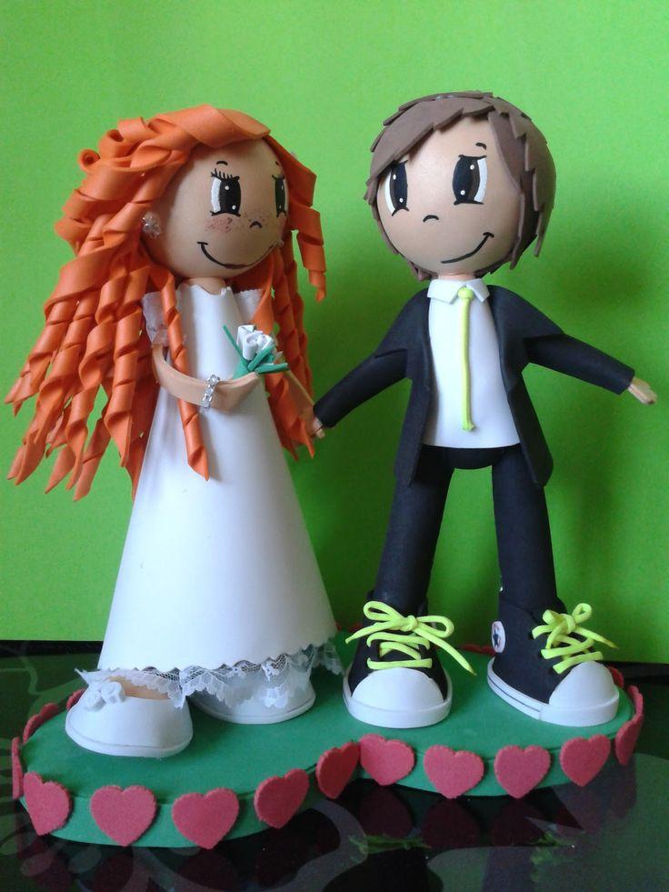 DAKATANA PURPLE, novios fofuchas para la boda de mi amiga Ceci y Carlos