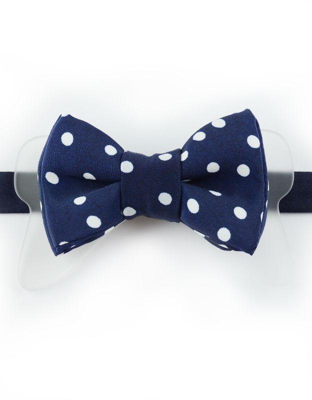 Papillon Blu Pois Bianchi con Plexiglass - Papillon Italiano SHOP #papillon #HandMade #BowTie #Design #Fashion #Men #blue #pois #Outfit #Papillonitaliano #shop