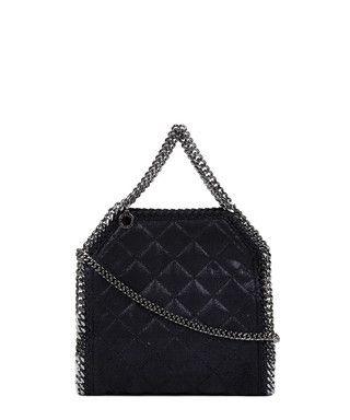 Falabella black quilted mini tote bag Sale - Stella McCartney Sale