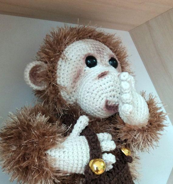 Handmade Monkey, crochet toy, amigurumi monkey