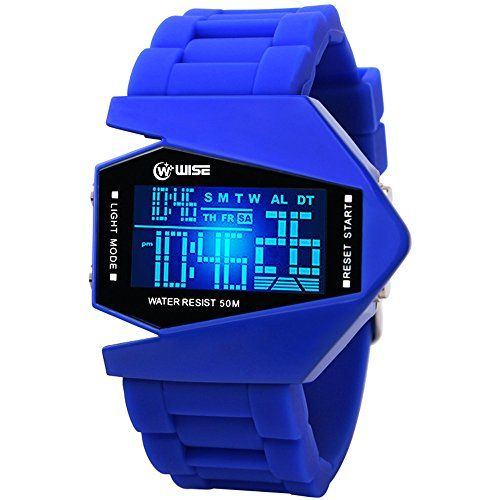 Blue Rubber Military Style Stealth Figher Watch. Best Gifts for 13 Year Old Boys - Favorite Top Gifts