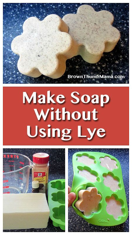 There's an answer for us scaredy-cat soapmakers who don't want to use caustic lye when making soap! This method is easy and safe to do with #kids around. #crafts #soap #natural