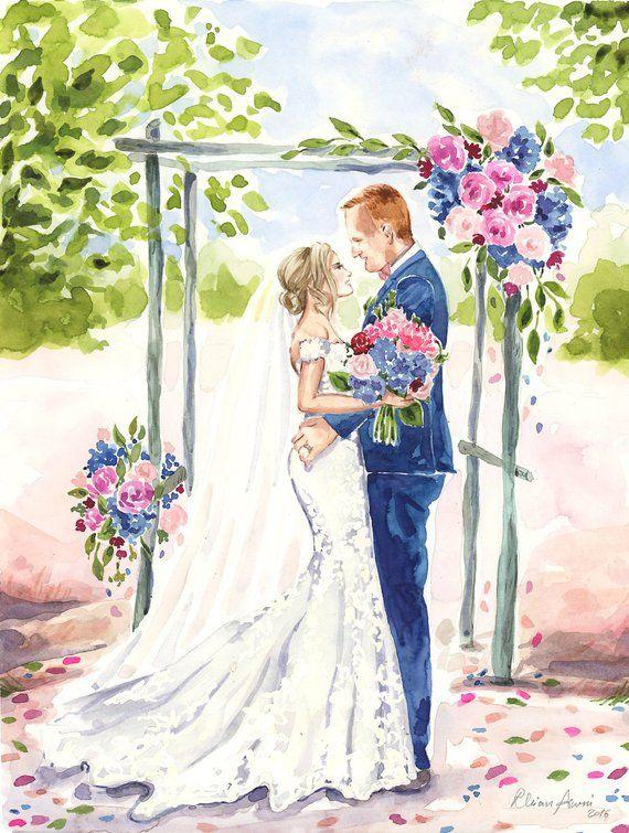 чтиво жених и невеста картинки акварелью очень