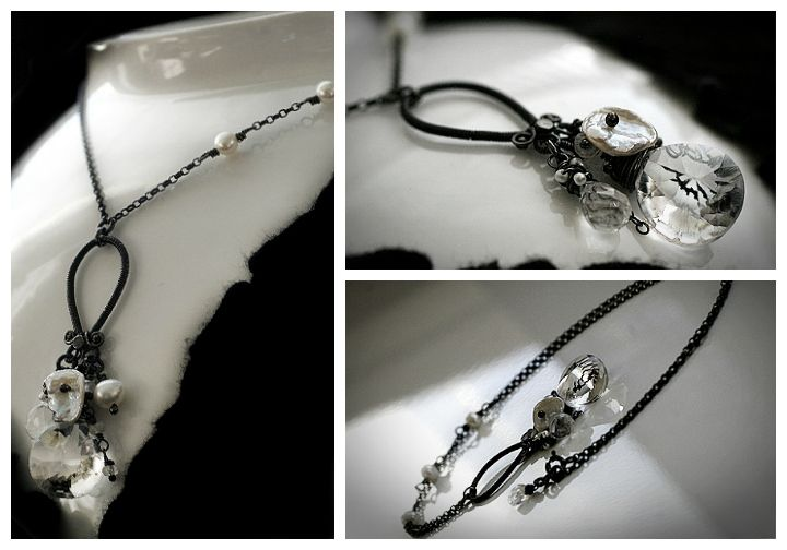Royale necklace, handmade by Paulan korukauppa.