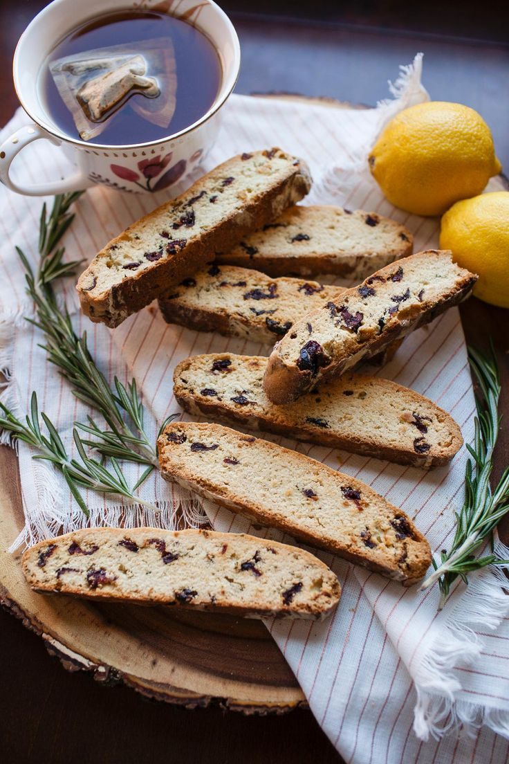 Cranberry, Lemon and Rosemary Biscotti