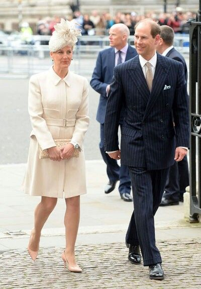 Sophie, Countess of Wessex and Prince Edward, Earl of Wessex attending Commonwealth Day service.